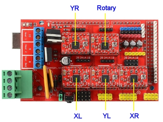 1 wire diagram 4 ramps D104 Mic